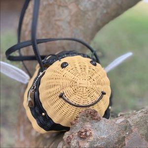 Kate Spade Bee 🐝 Novelty Wicker Bag Purse NWT